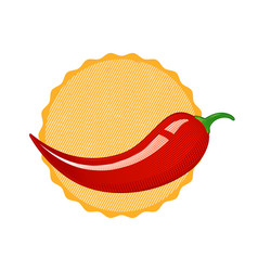 vintage chilli peppers vector image