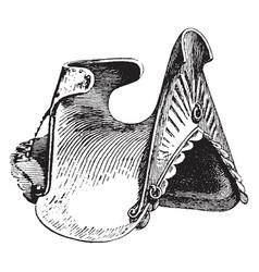 War saddle vintage vector