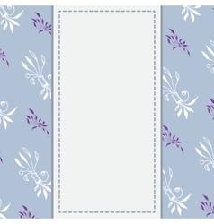 Wedding card or invitation with unusual hand drawn vector