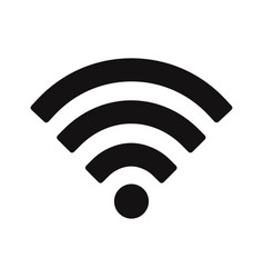 wifi signal icon wirelessinternet symbol vector image