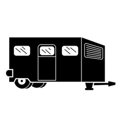 Worker motorhome icon simple style vector