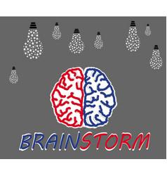 brainstorming creative idea vector image vector image