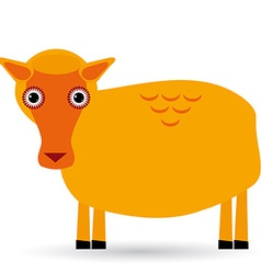 Cartoon of a sheep on white background vector image vector image