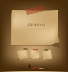 Collection of Vintage paper vector image vector image