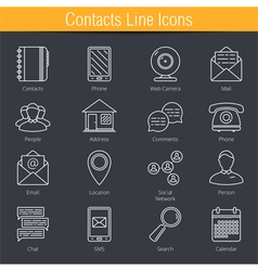Contacts icons vector