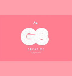 design of alphabet letter logo combination vector image vector image