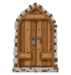 medieval style of window vector image vector image