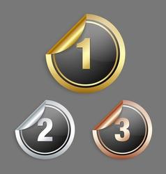 Metallic stickers vector image vector image