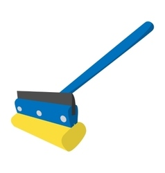 Mop for cleaning windows icon vector image vector image