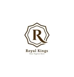 Royal logo template vector image