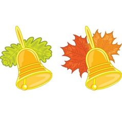 bells with leaves vector image vector image