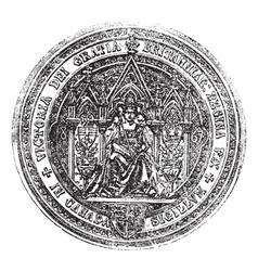 Great seal of canada vintage engraving vector