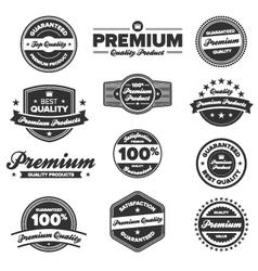 premium quality badges vector image vector image
