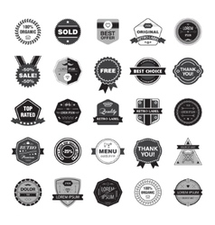 set of retro hipster badges vector image