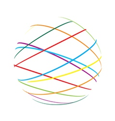 abstract sphere color lines vector image vector image