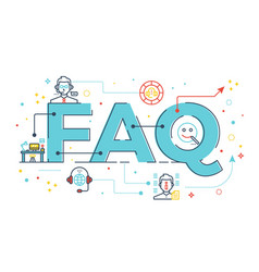 faq frequently asked questions vector image vector image