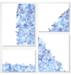 set of four banners headers with blue blots vector image vector image