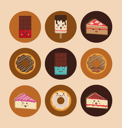sweet dessert cartoon vector image