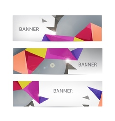 banners collection with abstract vector image