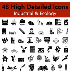 Industrial and Ecology Smooth Icons vector image vector image