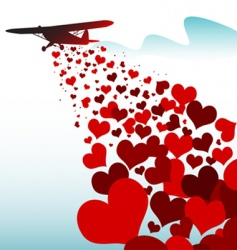 love plane vector image vector image