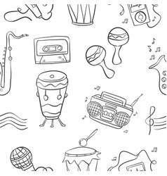 music doodle style hand draw art vector image vector image