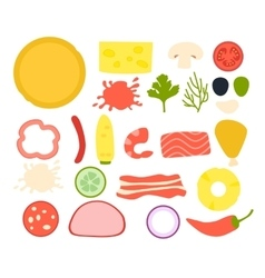 Set ingredients for pizza vector image