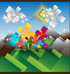 Abstract landscape baclground vector