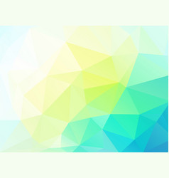abstract yellow green triangles background vector image