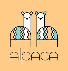 Alpaca design template vector