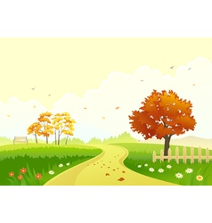 Autumn path vector image