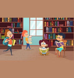 background with school characters pictures vector image