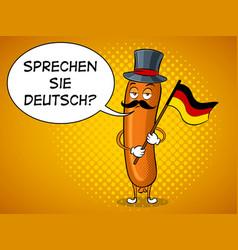 bavarian sausage pop art vector image