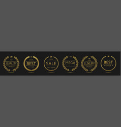 Best movie badge set vector