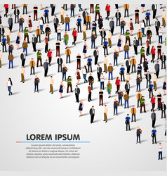 big people crowd on white background vector image