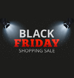 black friday shopping sale special offers and vector image