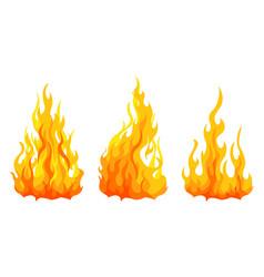 bonfire set design element vector image