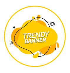 bright modern yellow banner vector image