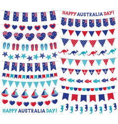 Bunting decoration set for Australia Day vector image