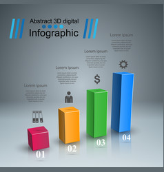 business infographics 3d charts and graphs vector image