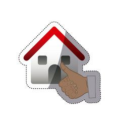 Buying house for family icon vector