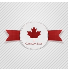 Canada Day greeting red Tag vector image
