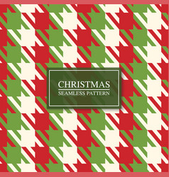 christmas seamless colorful fabric pattern bright vector image