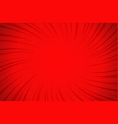 comic explosive red template vector image