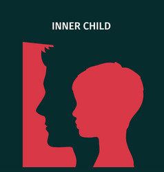 concept of inner child vector image