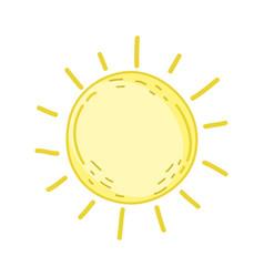 cute sun drawn icon vector image