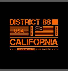 District 88 califonia usa vintage fashion vector