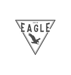 eagle vintage logo design inspiration with vector image