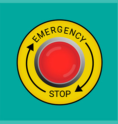Emergency stop button vector