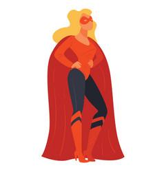 female character wearing costume super hero vector image